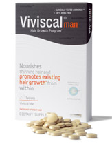 Viviscal man hair vitamins to promote hair growth
