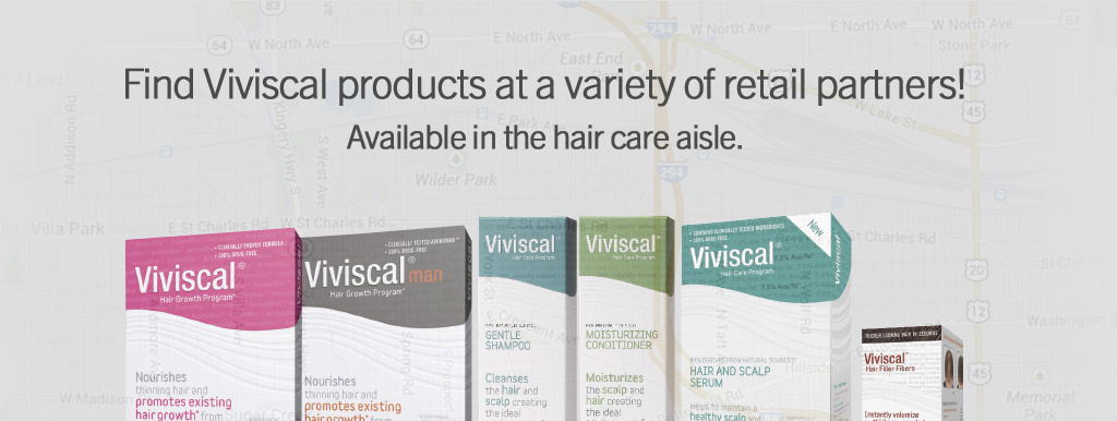 Find Viviscal products at a variety of retail partners